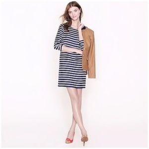 J. Crew • Jules Dress In striped silk twill